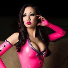 Jade Vixen is Pretty in Pink in Westward Bound  Kandy Love Latex Dress in Vibrant Pink: www.westwardbound.com/R1292 Button Love Latex Mitts: www.www.westwardnound.com/R1293 Photo: Kenny Lee Photography Location: Philadelphia, Pennsylvania. USA  #latex  #fashion  #fashionphotography