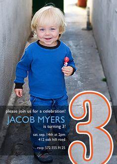 Big Number Boy Birthday Invitations - photoaffections.com #photoaffections #boybirthday #birthdayinvitation #invitation #birthdayboy #birthday