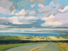 Kanna Aoki, painting, point reyes, california, pacific, road