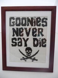The Goonies  Never Say Die  Cross Stitch Pattern by fiddlesticksau, $4.00