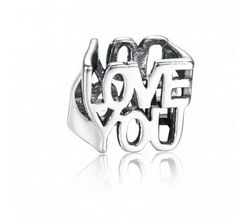 Hollow LOVE YOU Charm 925 Sterling Silver Pandora Compatible $12.95  http://www.soufeel.com/hollow-love-you-charm-925-sterling-silver-pandora-compatible.html