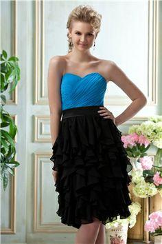 Attractive Tiered Empire Waist Sweetheart Neckline Knee-length Bridesmaid Dress