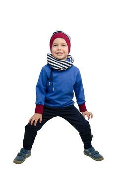 Design: Streifen navy/weiß Zip Hoodie, Pullover, Hipster, Pocket, Hoodies, Pants, Design, Style, Fashion