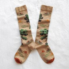 Hunting scene socks by Bonne Maison