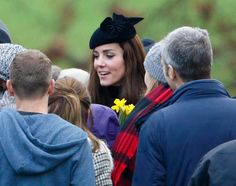 """Pin for Later: There's Something Special About The Duchess of Cambridge's Tweed Suit  The duchess topped off her Michael Kors Collection tweed set with her flower-adorned """"Fairy Tale"""" felt hat."""