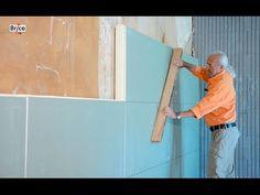 Isoler facilement avec des panneaux de polyuréthane 2 en 1 - YouTube Basement Tv Rooms, Basement Stairs, Moroccan Wall Art, Acoustic Wall Panels, Adams Homes, Drum Room, Traditional Doors, New Interior Design, Drywall
