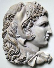 """""""Alexander III The Great""""  Greek Wall Relief, White Wash by Made 4 Museum"""