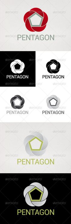 Pentagon Logo — Vector EPS #business #five • Available here → https://graphicriver.net/item/pentagon-logo/2648704?ref=pxcr