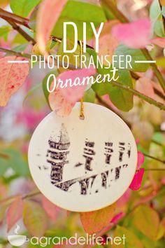 DIY Photo Transfer Ornaments