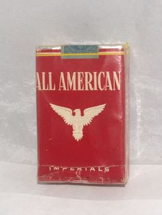 VINTAGE SEALED CIGARETTE PACK ALL AMERICAN FIRST 24 PACK RARE WW2 1941 | eBay