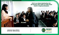 CLG is an ideal destination for all women who wish to make their mark in legal profession.