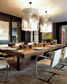 #diningroomdecor #interiordesign #diningtable take a look at out blog http://diningandlivingroom.com/