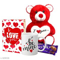 Accessories Delight Gifts(Pack Of 4)  Material: Mug - Ceramic Greeting Card - Paper Teddy Bear - Imported Size : Greeting Card : A4 Teddy Bear - 6 in           Capacity : Mug - 325 ml Description: It Has 1 Piece Of Mug & 1 Piece Of Greeting Card & 1 Piece Of Teddy Bear & 2 Pieces Of Chocolate Work : Mug - Printed Greeting Card - Printed Country of Origin: India Sizes Available: Free Size   Catalog Rating: ★4.1 (1539)  Catalog Name: Delight Gifts Combo Vol 8 CatalogID_161917 C127-SC1621 Code: 733-1274372-108