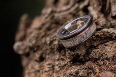 Custom made antler and titanium ring