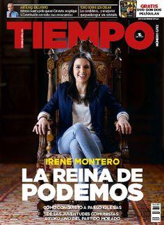En febrero de 2017, Tiempo dedicó su portada a la diputada Irene Montero, que poco antes había sido nombrada portavoz adjunta de Unidos Podemos en el Congreso. La publicación fue criticada por establecer un paralelismo entre Montero y Yoko Ono.