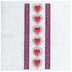 Free Embroidery Design: Border Hearts