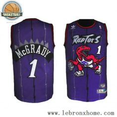 san francisco 4a877 926ba Toronto Raptors 1 Tracy McGrady Retro Blue White NBA Jerseys (amazon) size  large