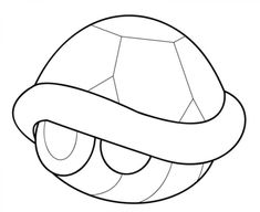 Mario Kart Turtle Shell Coloring Page