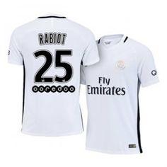 16-17 Cheap PSG White Third #25 Rabiot Replica Football Shirt [H00778]