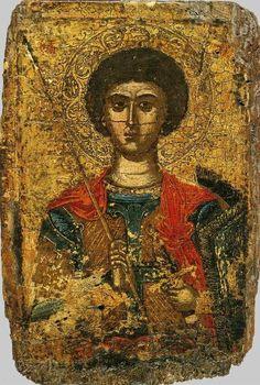 Георгий Победоносец, вмч.; Греция. Афон; XVI в.