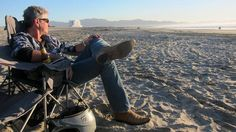 Tony relaxing on the beach in Ensenada. Because of this episode I havnt been able to get Ensenada off my mind.