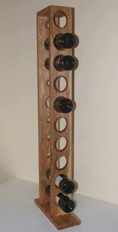 Standing Wine Shelf, Wooden Wine Holder, Standing Wine Rack