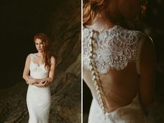 Amazing keyhole/illusion back wedding gown.  Claire Pettibone Romantique Collection