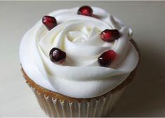 Pomegranate Cupcakes