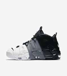 the best attitude 68b47 738ac 2017 2018 Daily Nike Air More Uptempo Tri-Color Black Cool-Grey-White  Basketball Shoe For Sale
