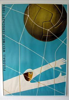 0c5e57769bc 1954 World Cup Poster Football Art