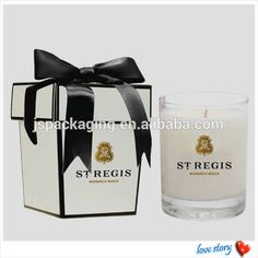 20124 christmas Paper cardboard luxury candle box, paper square candle box packaging with printing logo