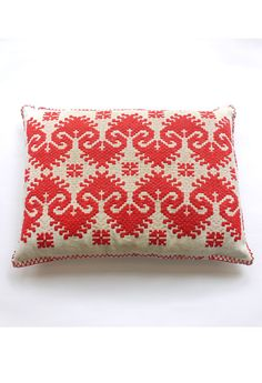 handstitched vintage pillow from budapest