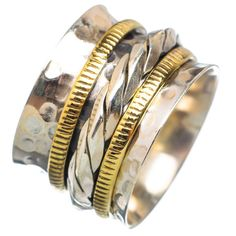 Spinner Ring - Two Tone Woven Spinner – Keja Designs Jewelry