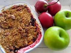 Tamarillo and Apple Crumble