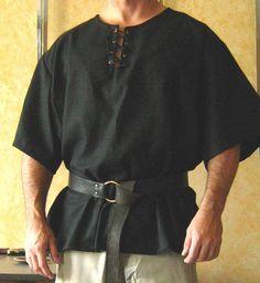 Medieval Celtic Viking Short Sleeves Shirt by MorganasCollection. $54.99, via Etsy.