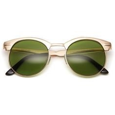 Novocane Sunglasses (Black/Dark Green) ($32) ❤ liked on Polyvore featuring accessories, eyewear, sunglasses, glasses and óculos