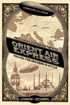 Orient Express railway (original poster)