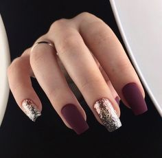 Trendy Manicure Ideas In Fall Nail Colors;Purple Nails; Fall Nai… Trendy Manicure Ideas In Fall Nail Colors;Purple Nails; Stylish Nails, Trendy Nails, Cute Nails, Cute Fall Nails, Burgundy Nails, Purple Nails, Pastel Nails, Matte Maroon Nails, Bling Nails
