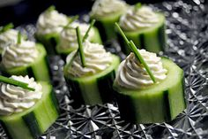 Sugar and Spice Blog - Cream Cheese filled cucumbers.... great bridal/baby shower appetizer
