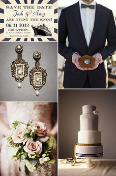 I love this cake! Titanic Inspiration - an elegant Edwardian-themed wedding.