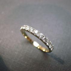 Wedding Anniversary Diamond Band Bridal Ring in by honngaijewelry, $940.00