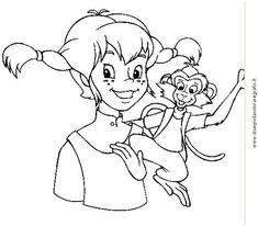 Pippi Langstrumpf Malvorlage