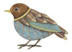 WATERCOLOR ORIGINAL PAINTING Bird Aceo Miniature by lorisworld, $13.00