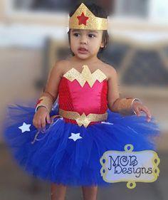 WonderWoman Tutu Costume por MoniChicBowtique en Etsy