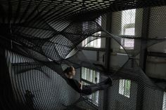 3 | Here's A Two-Story Building Made Of Hammocks [Video] | Co.Design | business + innovation + design