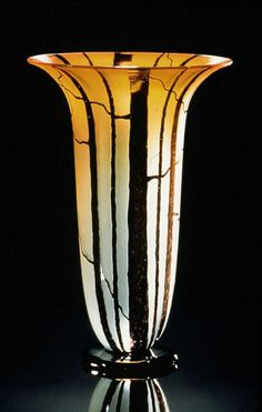 Hand blown art glass vase Tall Birch Vase in by KatzGlassDesign.