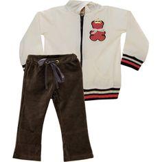 Conjunto Infantil Feminino de Plush Urso Bege - Nini & Bambini :: 764 Kids | Roupa bebê e infantil