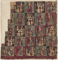 Textile Fragment, Probably from a Tunic, Huari culture, Peru, 8th-12th Century. The Cleveland Museum of Art, Online Collection.