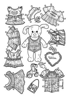 animal coloring pages doll place | Printable cutout paper doll sheet | Hispanic Heritage art ...