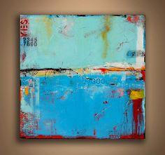SALE! 1st TIME EVER ON SALE - HUGE DISCOUNT $1,000.00 OFF!!! THIS SALE WILL END SOON - DONT MISS THIS ONE    Title: Matchbox Blues 5    From my Matchbox Blues collection I bring you Matchbox Blues 5 - GIANT 60 X 60 X 1.5 canvas READY TO HANG ORIGINAL! This piece is filled with amazing textures, cool hidden details and wonderful colors! This painting will for sure wake up a tired room - signed on front and will be delivered by FEDEX 3 DAY AIR and delivered to you by freight truck - FREE…